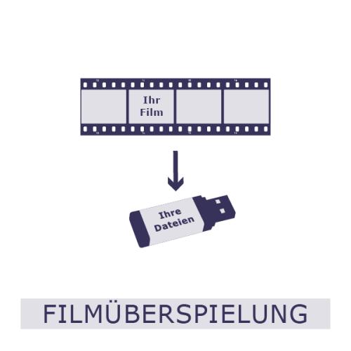 Filmüberspielung, Film, Filmrolle, Video, HVS, Überspielung, USB, analog auf digital
